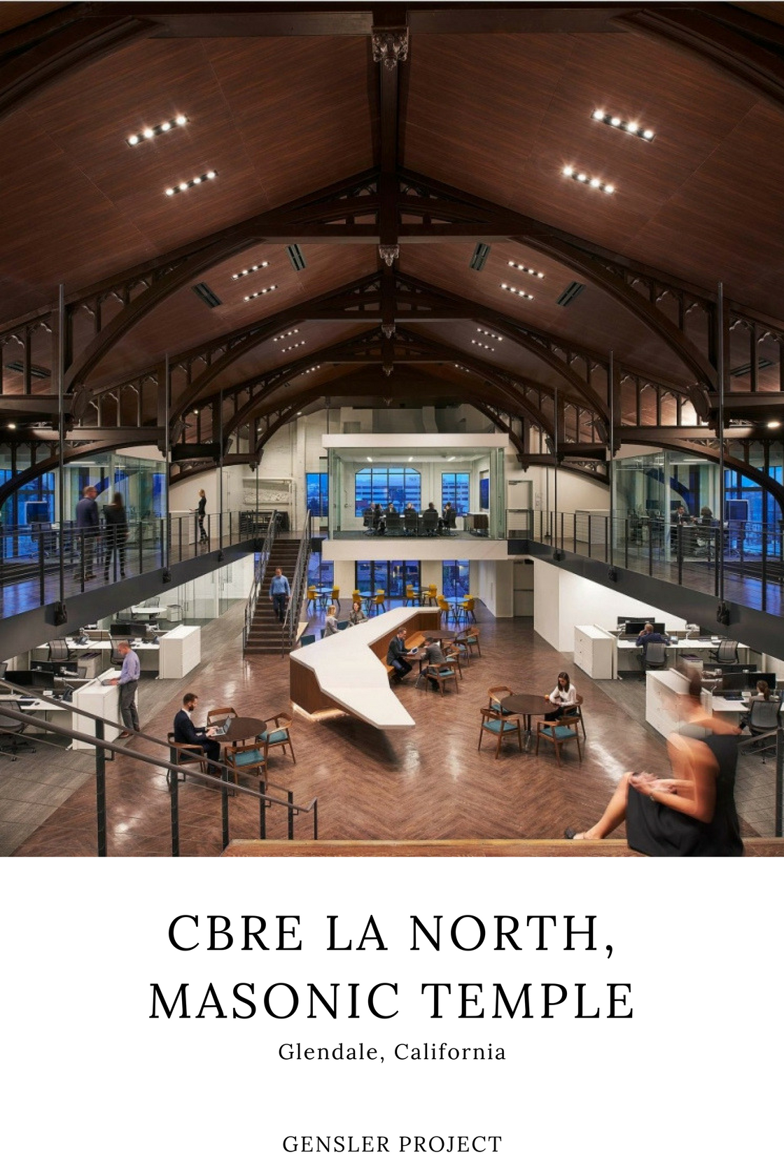 Modern Architectural CBRE's Workspace – Gensler Project
