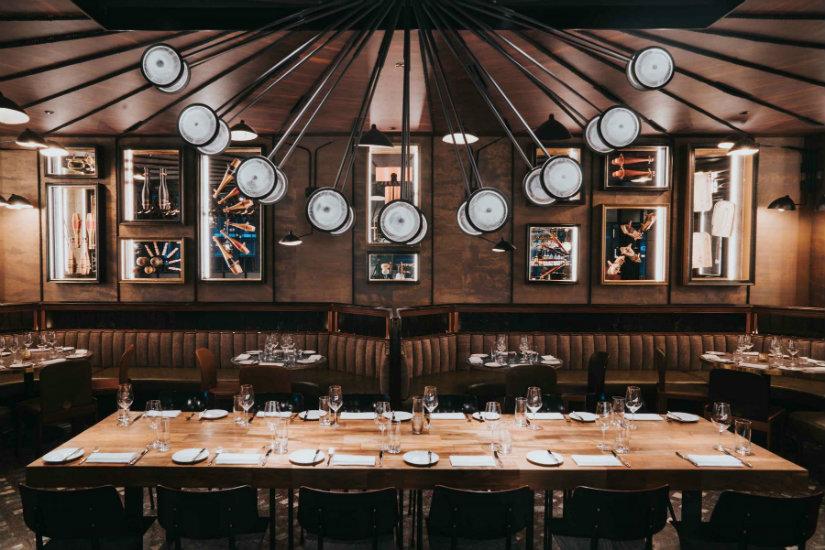 Spiga restaurant luxury interior design