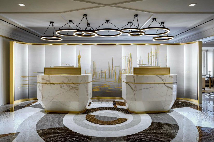 fairmont gold royal york private lounge by Champalimaud Design