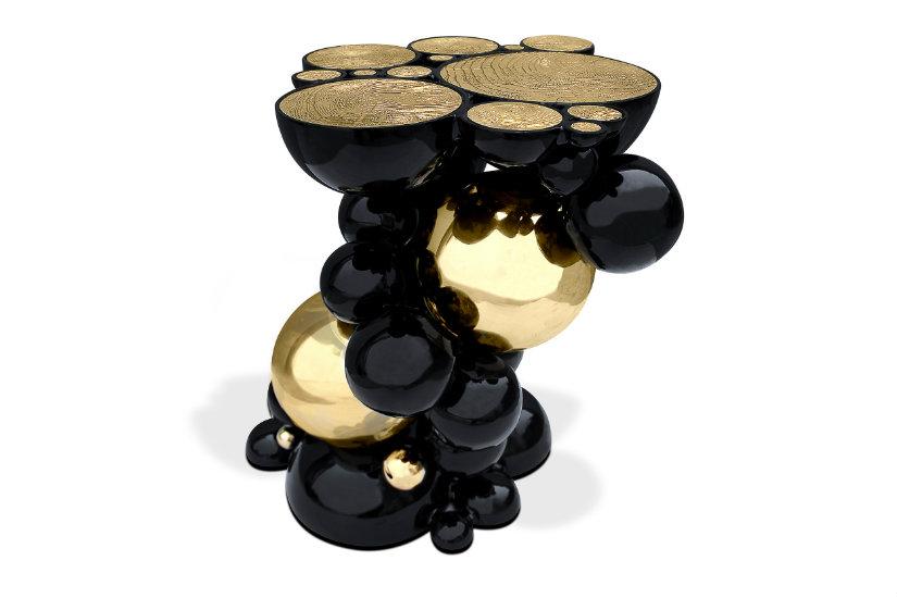 Newton Side Table - Golden Metallics decr trend 2020