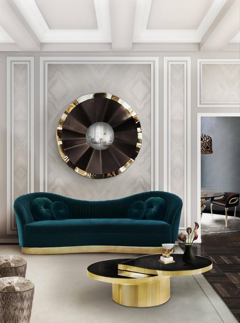 Reve WReve Wall Mirror - Golden Metallics trend 2020 - Inspirationall Mirror - Golden Metallics trend 2020