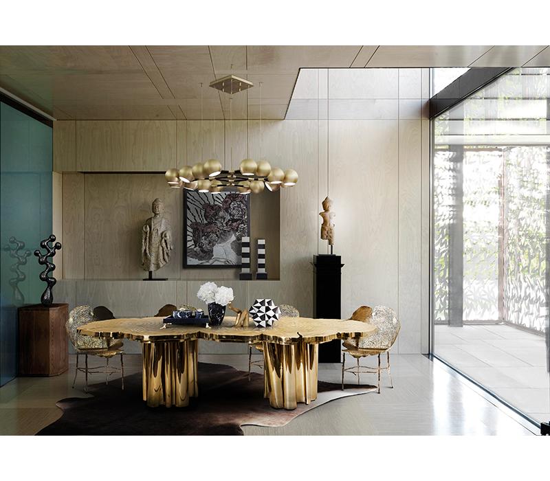 Fortuna Dinning Table - Golden Metallics trend 2020 - Inspiration