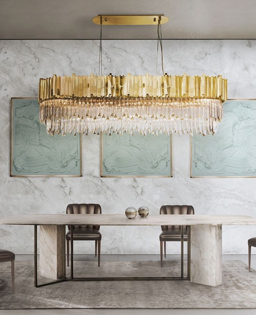 Suspension Lamp - Golden Metallics trend 2020 - Inspiration