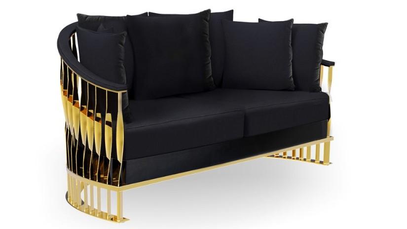 Mandy Sofa - Golden Metallic Decor trend 2020