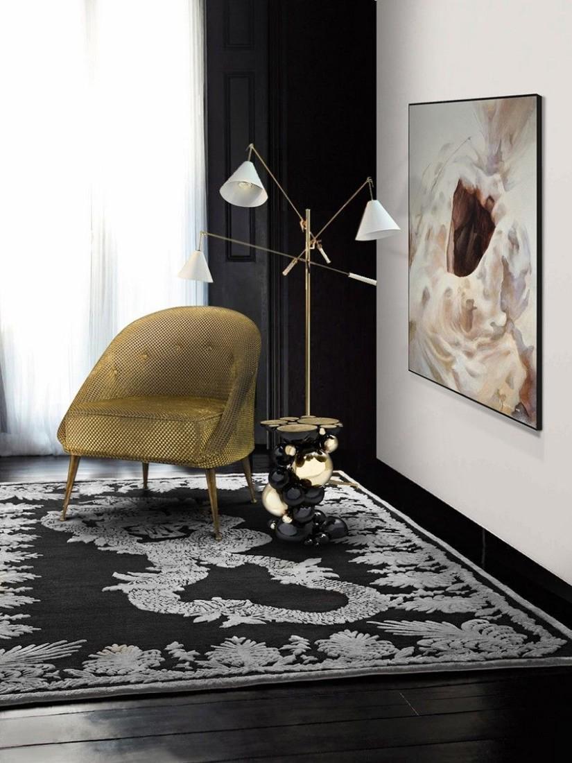 Newton Side Table - Golden Metallics decor trend 2020 - Inspiration