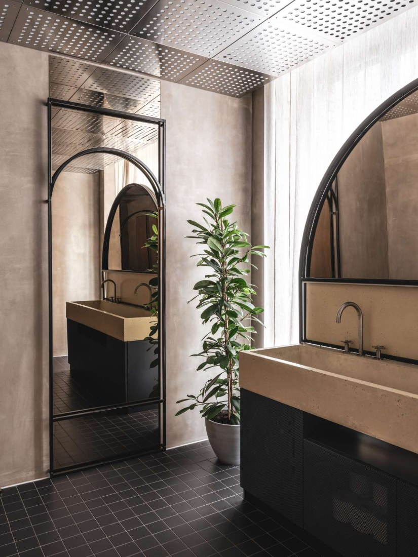 Modern Restaurant Bathroom