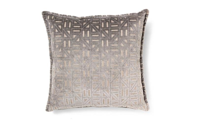 Zellinge grey geometric pillow
