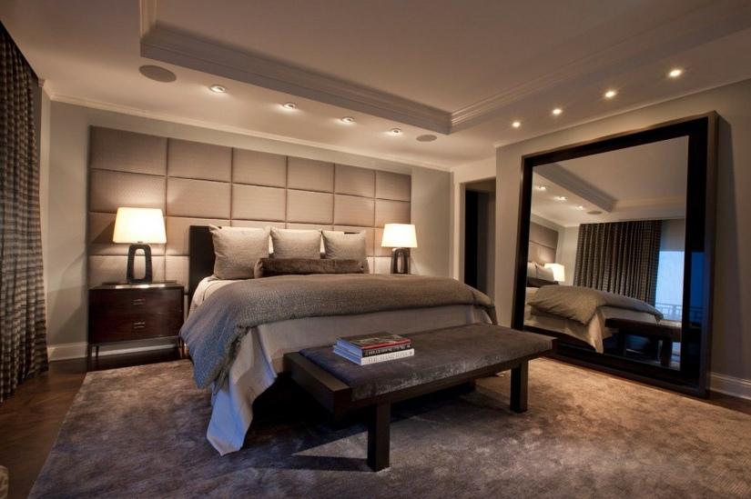 Cubism art deco bedroom