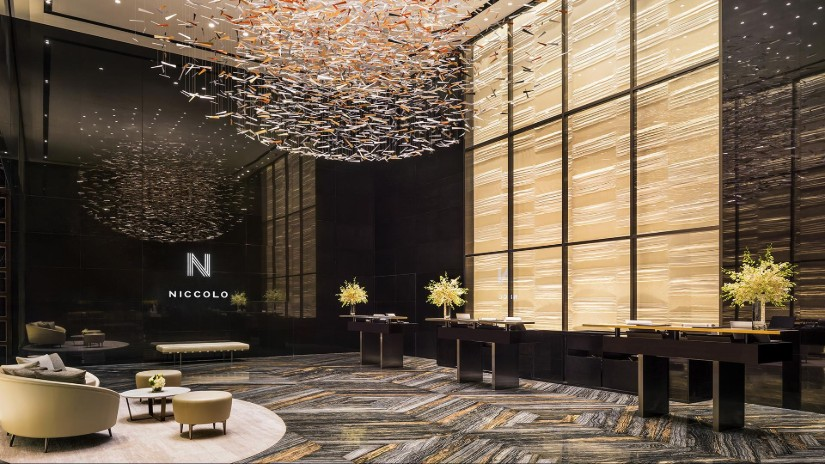 Hotel Lobby design by Wilson Associates
