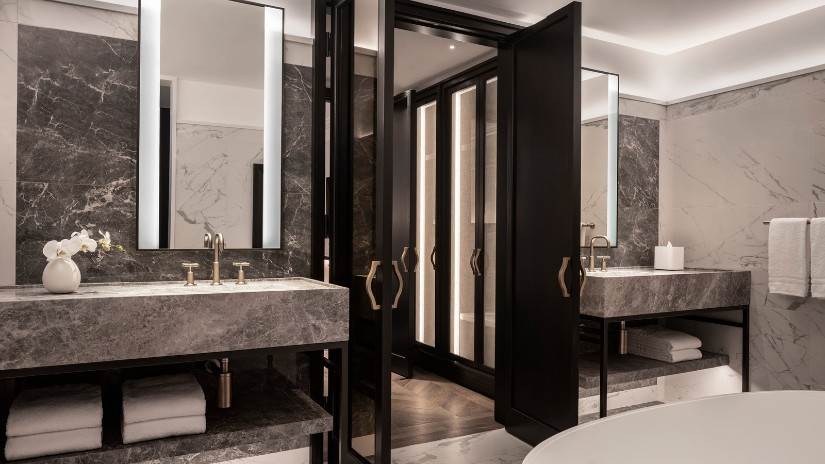 Luxury hotel bathroom design at Four Seasons Montreal